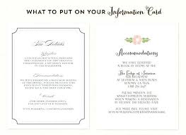 Destination Wedding Accommodation Card Wording Wedding Invitations