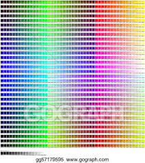 Stock Illustrations Hex Color Code Chart Stock Clipart
