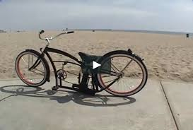 custom beach cruiser bicycle air ride suspension bicycling and