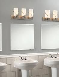 chrome bathroom light fixtures. Chrome Bathroom Light Fixtures Rectangular Wall Mount Mirror Square Glasses Partition Cream Ceramic Flooirng Tiled White Washstand