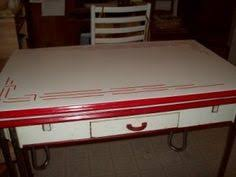 Small Picture Red and White Enamel Table Kitschy Kitchens Pinterest White