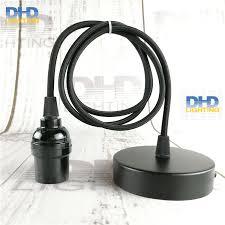 diy cable lighting. sample order e27 ul diy edison lamp fixture black e26 bakelite socket plastic holder with cable and ceiling plate diy lighting c