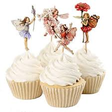 Flower Fairy Cake Topper Baby Girl Birthday Party Cake Decoration