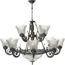 antique design 12 light chandelier ceiling lamp