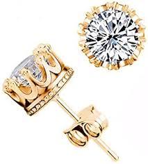 Cubic Zirconia - Earrings / Men: Jewellery - Amazon.in