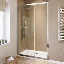 1200mm sliding shower enclosure walk in glass door screen bathroom
