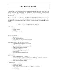 Short Business Report Sample Formal Business Report Template