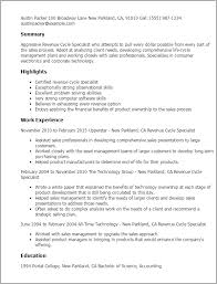 1 Revenue Cycle Specialist Resume Templates Try Them Now