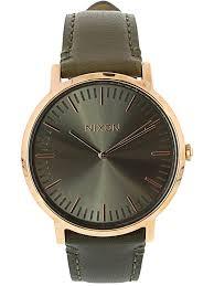 nixon men s porter leather a10582441 brown og quartz fashion watch 0