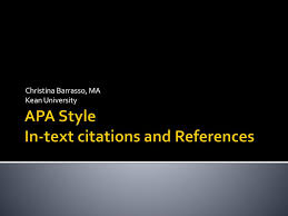 Ppt Apa Style In Text Citations And References Powerpoint