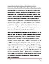 compare and contrast how the destructive nature of love is page 1 zoom in
