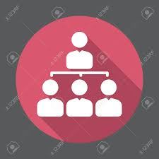 Manager Organization Chart Flat Icon Round Colorful Button