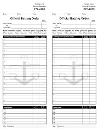 Softball Lineup Card Template New Sports Card Template