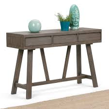 hallway console table. Simpli Home Dylan Driftwood Storage Console Table Hallway 2