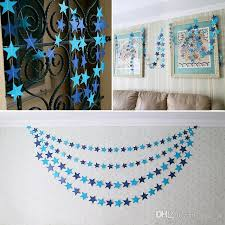 400cm wall hangings decoration star card paper banner wedding party festival decoration handmade children room decor party decoration party diy decoration