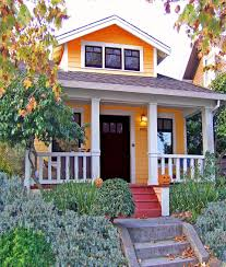 best exterior paint colors for small housesOrange Exterior Paint Color For Small Houses With Small Cottage