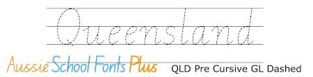 Queensland Cursive Alphabet Chart Queensland Modern Cursive Style Qld Cursive And Running Writing Fonts For Queensland Schools Edalive Educational Software