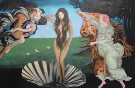 beyonce painting beyonce the birth of venus by angelo thomas