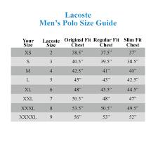 Polo Shirt Size Conversion Chart 13 Abiding Lacoste Shirt Size Chart Uk