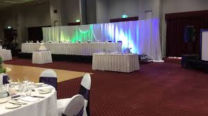 backdrop d with 6 crystal chandeliers and lighting styled by tappanappa event hire styling
