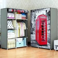 portable closets new printing non woven fabric wardrobe storage organizer detachable clothing portable closet bedroom fashion portable closets