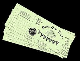 Prize Draw Tickets 30th Anniversary Prize Draw Winners The Barn Owl Trust