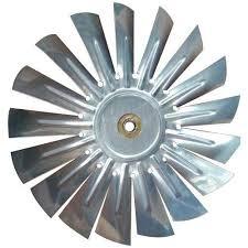 silver aluminum ac fan blade