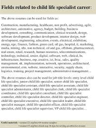 ... Child Life Assistant Sample Resume Top 8 Child Life Specialist -  language specialist sample resume ...