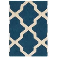 cambridge navy blue ivory 3 ft x 5 ft area rug