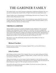 THE GARDNER FAMILY - BillPutman
