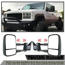 88 98 Chevy 52 Light Bar Brackets Details About Manual Tow Mirror Pair For 88 98 Chevy C K C10 1500 2500 3500 Towing Mirrors