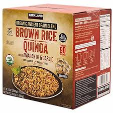 I was running low on coffee and wanted to try the kirkland signature house blend medium roast which is roasted by starbucks. Kirkland Signature Organic Ancient Grain Blend Brown Rice Quinoa W Amaranth Garlic Gluten Free Vegan 6 Ct 8 5 Oz Probityshop Com