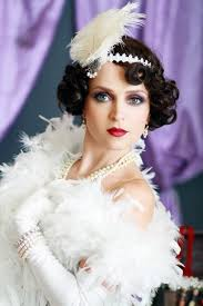 woman in a flapper look