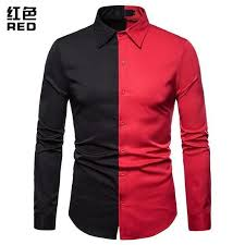 <b>Men Shirt 2018 Autumn</b> Brand Long Sleeves Stitching Color Cotton ...
