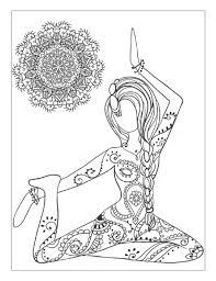 Yoga And Meditation Coloring Book For