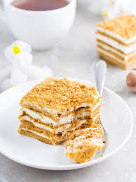 Russian Honey cake with cream — Stock © elenademyanko