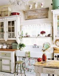 shabby chic kitchen decor with rustic details