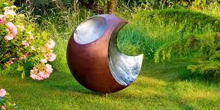 copper garden art. Bite Copper Garden Sculpture With Stainless Steel Bites Taken Out Of It Art A