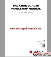 terex backhoe loader tx760 860 970 980 workshop manual auto click here