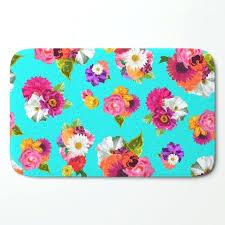 flower bath rug flower bath mat fl bath rug rose print shower mat bright flowers pink flower bath rug