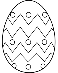 Easter Egg Coloring Page Free Clip Art