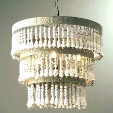 chandeliers pottery barn beaded chandelier shades wood bead lamp