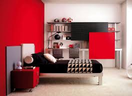 red wall paint black bed: black white and red bedroom real house design black red bedroom