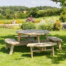 rose round 8 seater picnic table code 0036674 availability