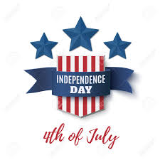Blue Ribbon Template Independence Day Background 4th Of July Template Badge With