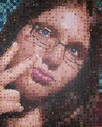 self portrait chuck close style by ldsheori