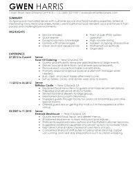 Sample Of Waitress Resume Interesting Waitress Objective For Resume Waitress Resume Objective Beautiful