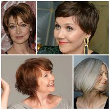 short haircuts for women over 50 2017
