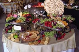 wedding food table wedding buffet food
