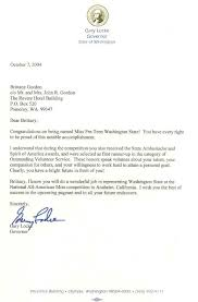 Congratulations Letter Custom Governor Locke Congratulates Brittany Gordon For National American